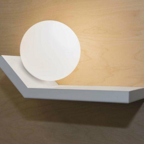 Marchetti illuminazione scivolo parete bianco